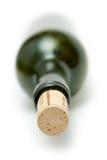το μπουκάλι βούλωσε το πράσινο κρασί στοκ εικόνα