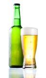 το μπουκάλι κατέψυξε το συμπυκνωμένο γυαλί πράσινο Στοκ φωτογραφίες με δικαίωμα ελεύθερης χρήσης