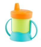 το μπουκάλι μωρών χρωμάτισε πολυ Στοκ Εικόνες
