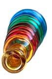 το μπουκάλι χρωμάτισε διακοσμητικό Στοκ Εικόνες