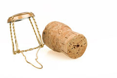 Το μπουκάλι κρασιού CHAMPAGNE βουλώνει Στοκ Φωτογραφία