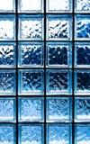 Το μπλε γυαλί τακτοποιεί τη σύσταση Στοκ Εικόνα