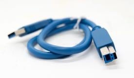 Το μπλε καλώδιο είναι για τη σύνδεση Στοκ φωτογραφία με δικαίωμα ελεύθερης χρήσης