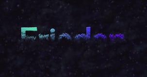 Το μπλε κείμενο ειρήνης στα γερμανικά (Frieden) μετατρέπεται σε σκόνη στο κατώτατο σημείο απόθεμα βίντεο
