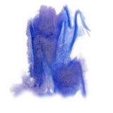 Το μπλε κόκκινο watercolor μπλε μελανιού χρώματος παφλασμών χρωμάτων απομόνωσε τη βούρτσα κτυπήματος splatter watercolour aquarel Στοκ φωτογραφίες με δικαίωμα ελεύθερης χρήσης