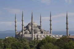 Το μπλε μουσουλμανικό τέμενος, (Sultanahmet Camii), Ιστανμπούλ, Τουρκία. Στοκ φωτογραφίες με δικαίωμα ελεύθερης χρήσης