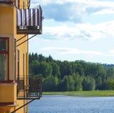 το μπλε μπαλκόνι Στοκ Φωτογραφία