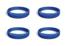 Το μπλε πλαστικό wristband έθεσε για την ημέρα φιλίας ελεύθερη απεικόνιση δικαιώματος