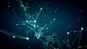 Το μπλε συνδέσεων δικτύων μετακινείται διανυσματική απεικόνιση