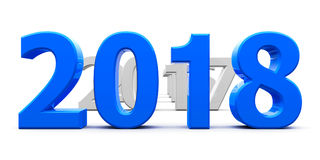 Το μπλε το 2018 έρχεται απεικόνιση αποθεμάτων