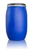 Το μπλε τύμπανο απομονώνει στο λευκό με το ψαλίδισμα της πορείας Στοκ φωτογραφίες με δικαίωμα ελεύθερης χρήσης