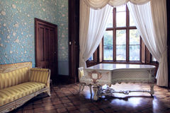 Το μπλε δωμάτιο στο παλάτι Vorontsov στοκ εικόνα με δικαίωμα ελεύθερης χρήσης