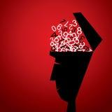 Το μυαλό κινούμενων σχεδίων είναι πλήρες των αριθμών διανυσματική απεικόνιση