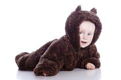 το μωρό αντέχει το παιδί teddy Στοκ εικόνα με δικαίωμα ελεύθερης χρήσης