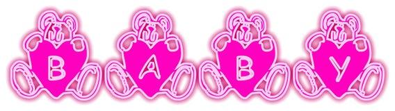 το μωρό αντέχει το ροζ Στοκ Φωτογραφίες