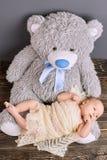 το μωρό αντέχει teddy Στοκ Εικόνες