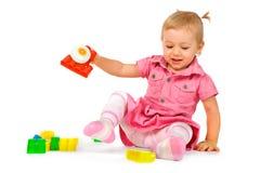 το μωρό εμποδίζει το κορίτ στοκ φωτογραφία με δικαίωμα ελεύθερης χρήσης