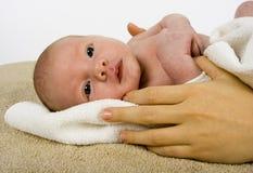 το μωρό η πετσέτα Στοκ εικόνα με δικαίωμα ελεύθερης χρήσης