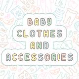 Το μωρό ντύνει το άνευ ραφής σχέδιο με την εγγραφή Στοκ φωτογραφία με δικαίωμα ελεύθερης χρήσης