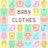 Το μωρό ντύνει τα εικονίδια καθορισμένα Στοκ φωτογραφία με δικαίωμα ελεύθερης χρήσης