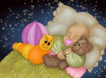 το μωρό ονειρεύεται το γ&lam Στοκ Εικόνα