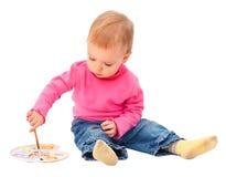 το μωρό σύρει ένα για να δο&kappa Στοκ Φωτογραφίες