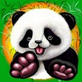 Το μωρό της Panda αντέχει χαριτωμένος και ευτυχής Στοκ φωτογραφία με δικαίωμα ελεύθερης χρήσης