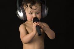 το μωρό τραγουδά Στοκ Εικόνα
