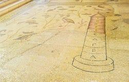 Το μωσαϊκό Nilometer στην εκκλησία πολλαπλασιασμού στοκ φωτογραφίες με δικαίωμα ελεύθερης χρήσης