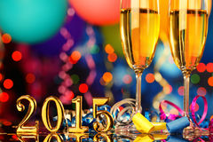 Το νέο έτος γιορτάζει Στοκ Εικόνα