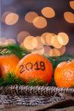 Το νέο έτος 2018 είναι ερχόμενη έννοια στοκ εικόνες