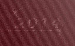 Το νέο έτος επιθυμεί την κάρτα Στοκ Εικόνες