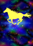 Το νέο έτος του αλόγου Στοκ Εικόνες