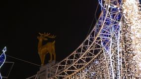 Το νέο έτος Χριστουγέννων ελαφιών απόθεμα βίντεο
