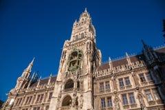 Το νέο Δημαρχείο σε Munchen. Στοκ Φωτογραφία