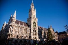 Το νέο Δημαρχείο σε Munchen. Στοκ Εικόνα
