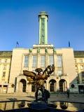 Το νέο Δημαρχείο του γλυπτού της Οστράβα και του Ικάρου σε Czechia Στοκ εικόνα με δικαίωμα ελεύθερης χρήσης