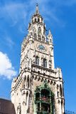 Το νέο Δημαρχείο Neues Rathaus σε Marienplatz Στοκ φωτογραφίες με δικαίωμα ελεύθερης χρήσης