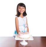Το νέο κορίτσι γιορτάζει τα γενέθλια VIII Στοκ Φωτογραφία