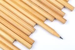 Το νέο μολύβι με το ένα ακονίζει Στοκ εικόνες με δικαίωμα ελεύθερης χρήσης