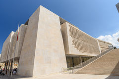 Το νέο σπίτι του Κοινοβουλίου στην πρωτεύουσα Valletta της Μάλτας Στοκ εικόνες με δικαίωμα ελεύθερης χρήσης
