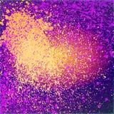 Το νέο χρωμάτων Splatter λάμπει διακόσμηση ακρυλική, ροή σκόνης, Στοκ εικόνα με δικαίωμα ελεύθερης χρήσης
