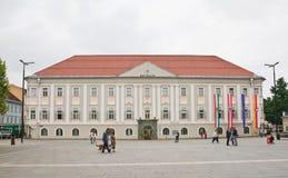 Το νέο Δημαρχείο σε Klagenfurt Carinthia australites Στοκ Εικόνες