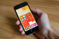 Το νέο Control Center iOS 11 Στοκ Εικόνες