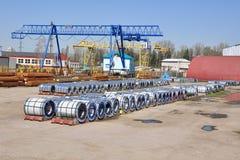 Το ναυπηγείο αποθήκευσης για το χάλυβα Στοκ εικόνες με δικαίωμα ελεύθερης χρήσης