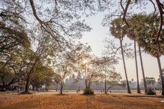 Το ναυπηγείο σε Angkor Wat στο ηλιοβασίλεμα, Angkor Wat, Siem συγκεντρώνει, Καμπότζη Στοκ φωτογραφία με δικαίωμα ελεύθερης χρήσης