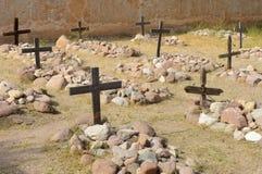 το νεκροταφείο διασχίζ&epsi Στοκ φωτογραφία με δικαίωμα ελεύθερης χρήσης