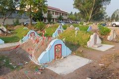 Το νεκροταφείο στο νεκροταφείο Jing Gung Στοκ Φωτογραφία