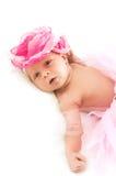 Το νεογέννητο κορίτσι Στοκ Εικόνες