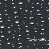 Το νερό ρίχνει το άνευ ραφής σχέδιο Στοκ Εικόνες